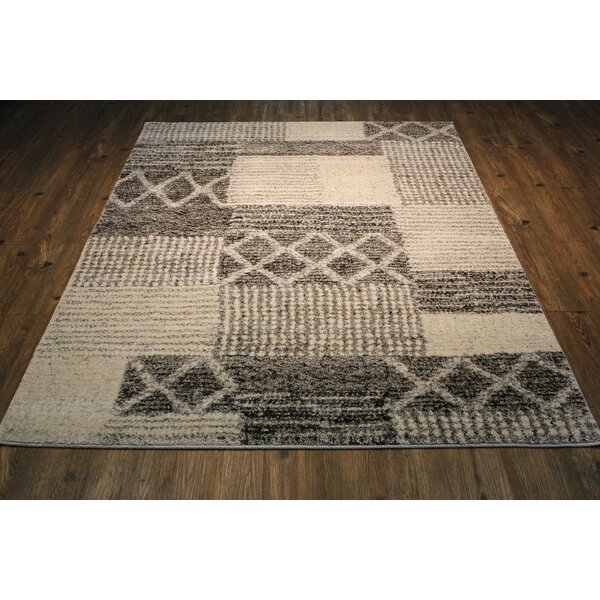 Magpie Ivory/Gray Area Rug by 17 Stories
