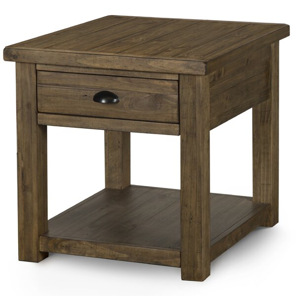 Senoia Rectangular End Table by Three Posts
