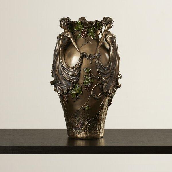 Ledbury Dancing Maidens Centerpiece Urn Vase by World Menagerie