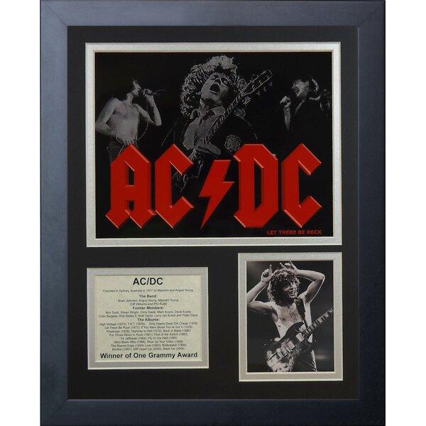 AC/DC Framed Memorabilia by Legends Never Die