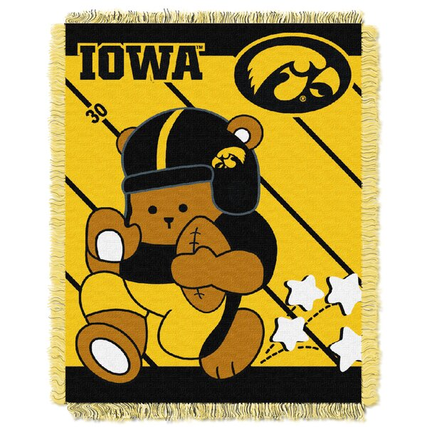 Collegiate Iowa Baby Blanket by Northwest Co.