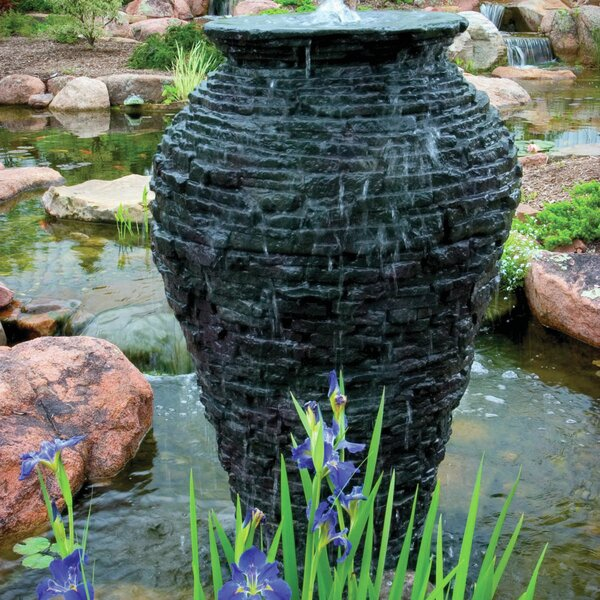 Fiberglass Stacked Slate Urn Fountain Kit by Aquascape