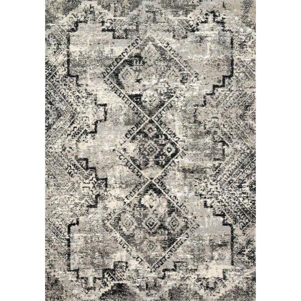Khemis Black/Gray Area Rug by Bungalow Rose