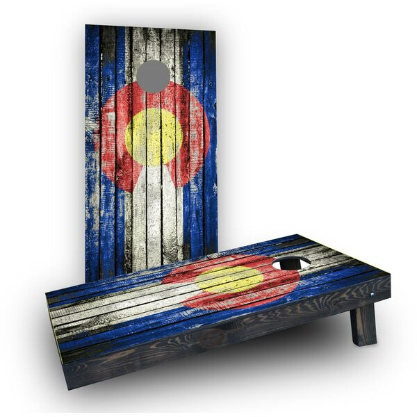 Wooden Distressed State Flag Cornhole (Set of 2) by Custom Cornhole Boards