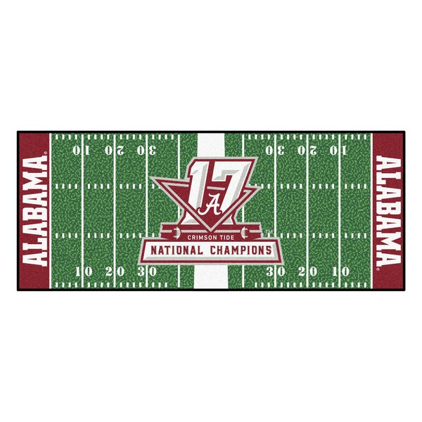 NCAA Red/Green Area Rug by FANMATS