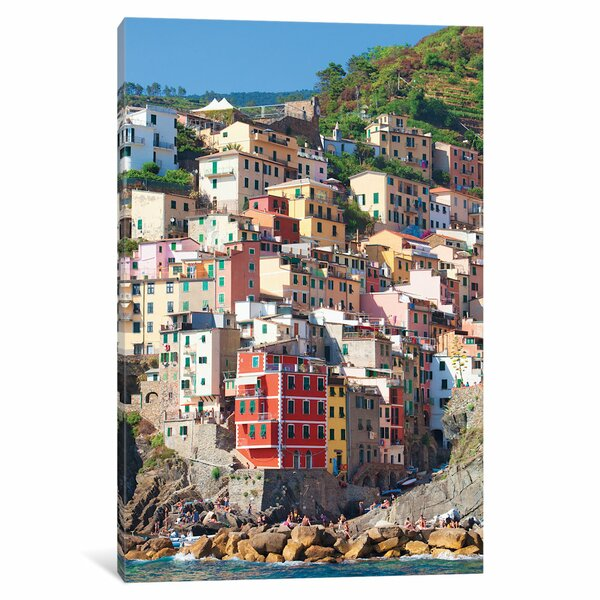 Riomaggiore II (One of the Cinque Terre), La Spezia Province, Liguria Region, Italy Photographic Print on Wrapped Canvas by East Urban Home