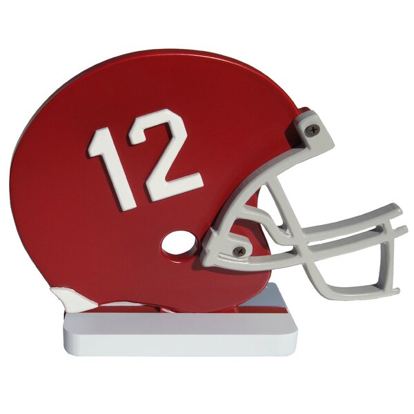 NCAA Helmet Shelf Art Sculpture by Fan Creations
