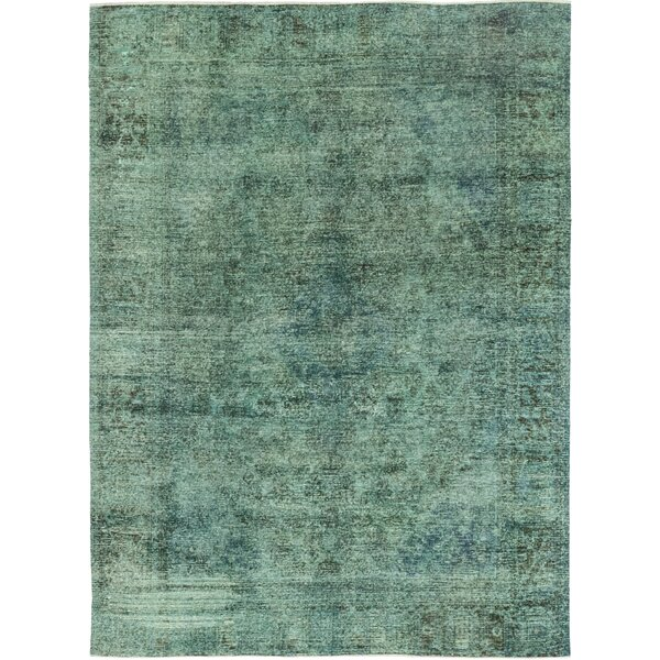 One-of-a-Kind Crissyfield Hand-Knotted Wool Green Indoor Area Rug by Isabelline