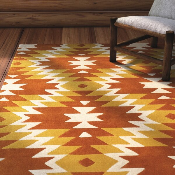 Alverstone Hand-Tufted Sorrel Area Rug by Loon Peak