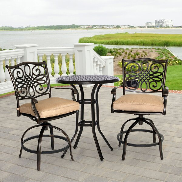 Eden 3 Piece Dining Set with Cushions by Darby Home Co