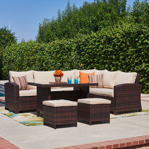 Lisbeth 5 Piece Sectional Seating Group with Cushions by Andover Mills