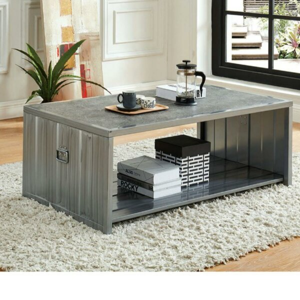 Wayne Wooden Box Coffee Table by 17 Stories