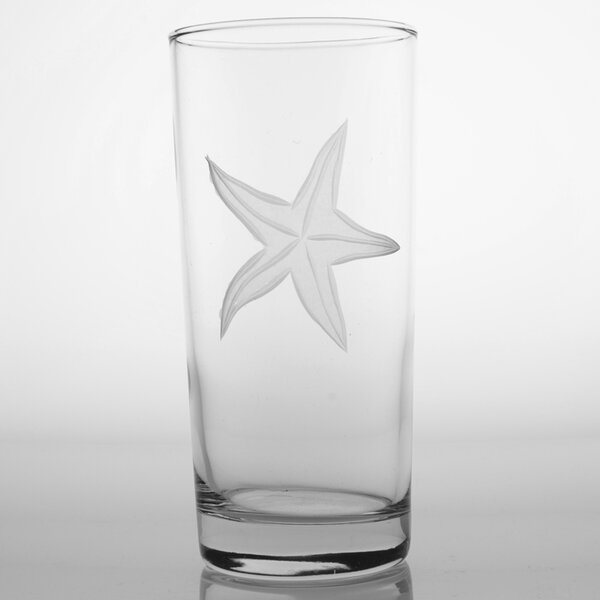 Starfish Cooler Glass (Set of 4) by Rolf Glass