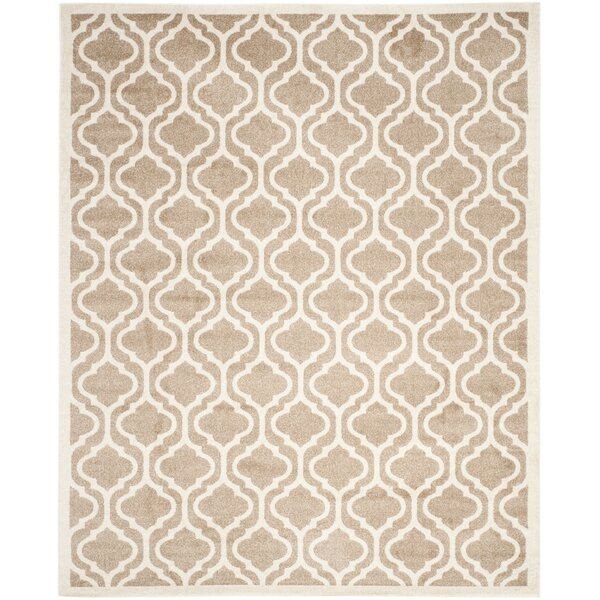 Carman Power Loomed Wheat/Beige Area Rug by Charlton Home