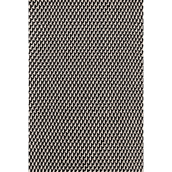 Two Tone Rope Hand Woven Black Indoor/Outdoor Area Rug by Dash and Albert Rugs