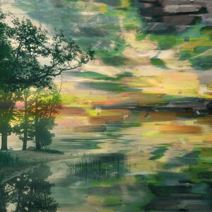 'Lakeside Trees' by Parvez Taj Painting Print on Wrapped Canvas by Parvez Taj