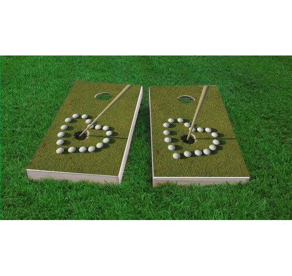 Golf Love Cornhole Game Set by Custom Cornhole Boards