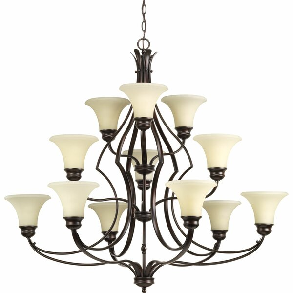 Rennie 12 - Light Shaded Tiered Chandelier by Darby Home Co Darby Home Co