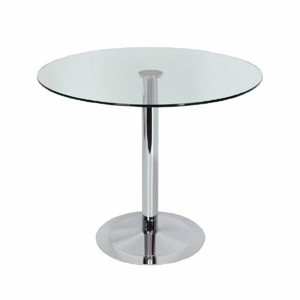 Hollowell Clear Round Kitchen Dining Table by Orren Ellis Orren Ellis