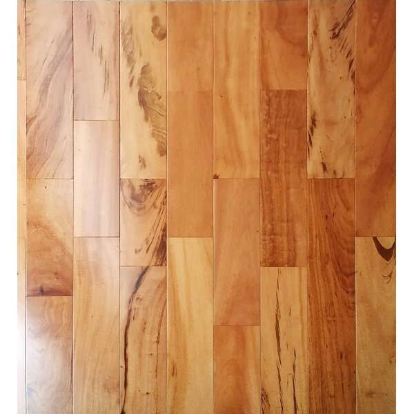 5 Myra Engineered Tigerwood Hardwood Flooring in Tan by Welles Hardwood