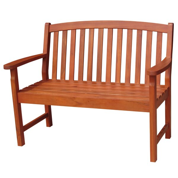 Slatback Hardwood Garden Bench by International Concepts