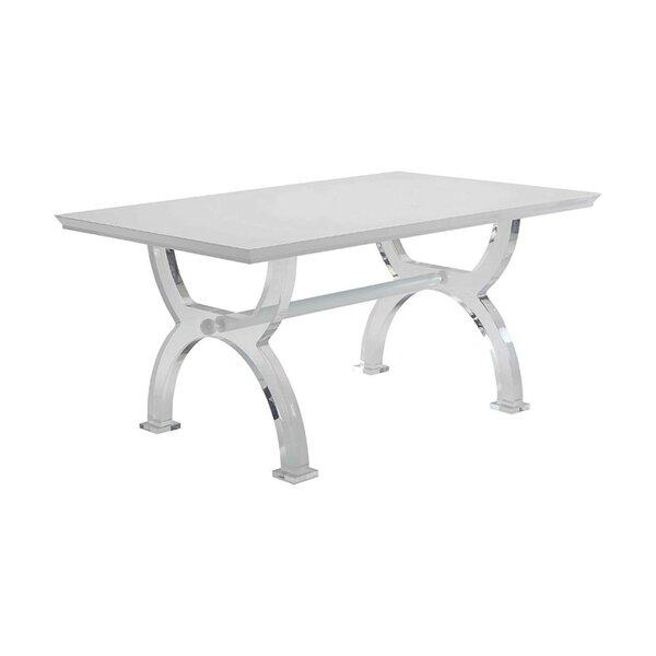 Ulmer Modern Rectangular Solid Wood Dining Table by Orren Ellis Orren Ellis