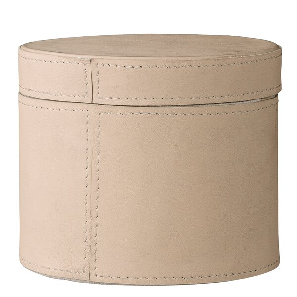 Jacobi Leather Box with Lid by Charlton Home