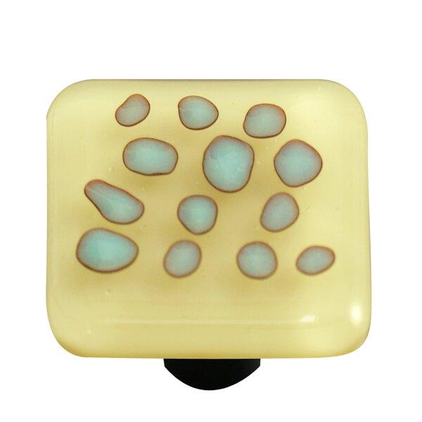 Reactive Square Knob by Aquila Art Glass