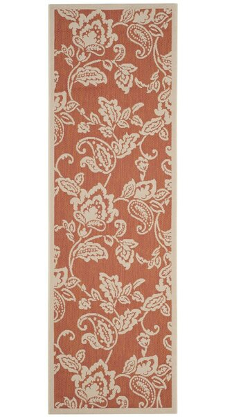 Berrima Terracotta/Beige Area Rug by Martha Stewart Rugs