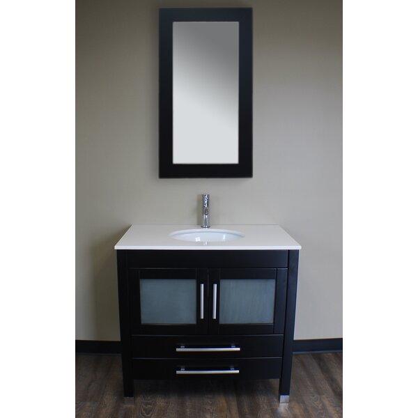 Seawell 35 Single Bathroom Vanity Set with Mirror by Latitude Run