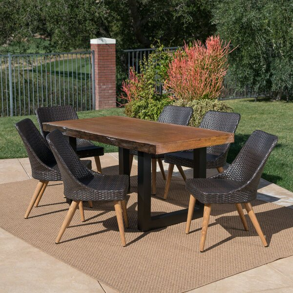 Cromkill Outdoor 7 Piece Dining Set by Foundry Select