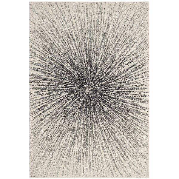 Hannan Black/Ivory Area Rug by Mercury Row