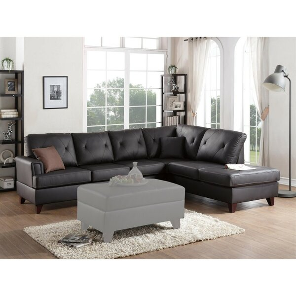 Servis Leather Sectional by Red Barrel Studio