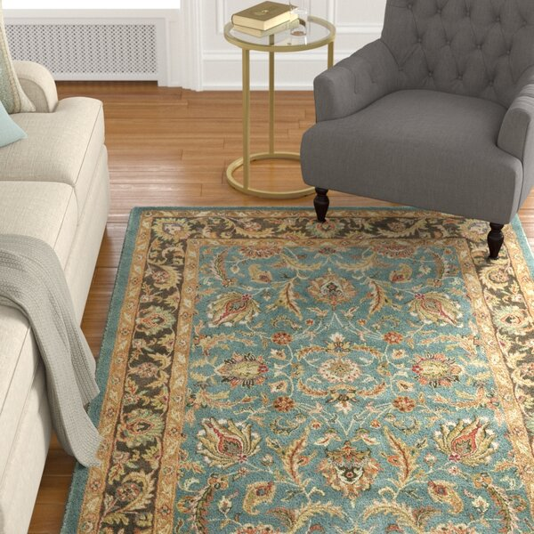 Cranmore Hand-Tufted Blue/Brown Area Rug by Charlt