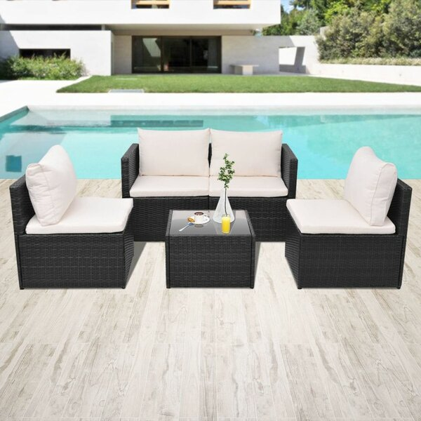 Swanley Garden 5 Piece Sofa Seating Group with Cushions by Ivy Bronx