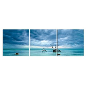 'Cerulean Silence' Photographic Print Multi-Piece Image on Canvas by Latitude Run