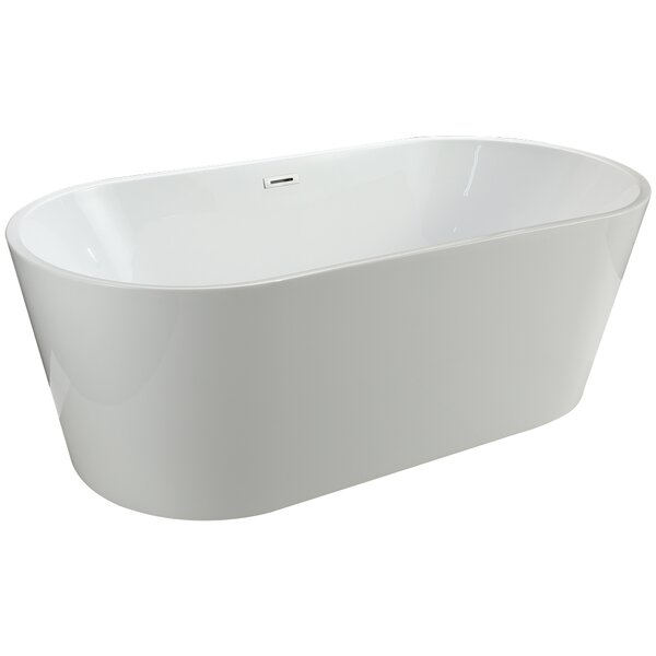 Lumina 68 x 32 Freestanding Soaking Bathtub by Vinnova