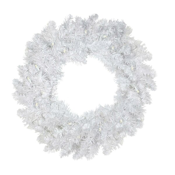 Christmas 30 Lighted PVC Wreath by The Holiday Aisle