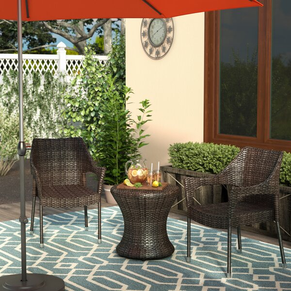 Dewart 3 Pieces Rattan Seating Group by Andover Mills