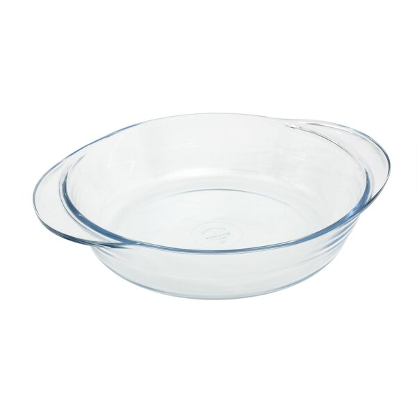 5 Qt. Glass Round Flat Casserole with Lid by Marinex