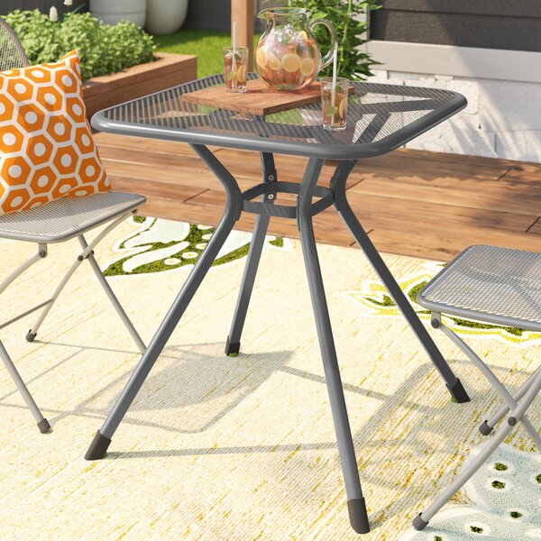 Denney Metal Mesh Top Bistro Table by Latitude Run