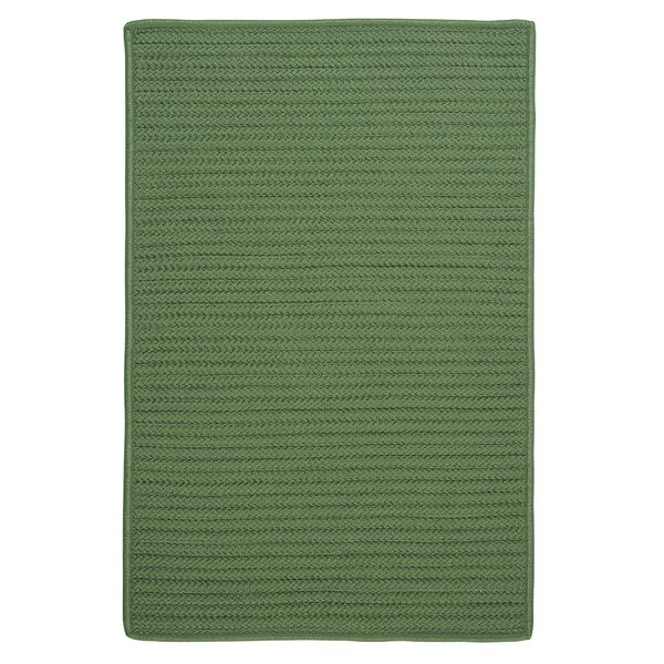 Gilmour Moss Green Solid Indoor/Outdoor Area Rug by Charlton Home