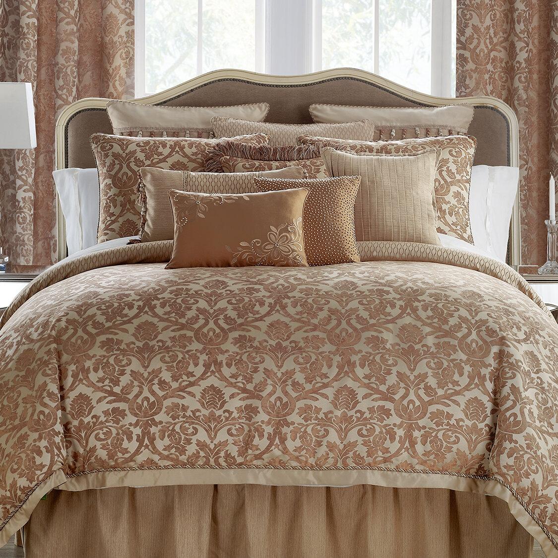 Waterford Bedding Margot 4 Piece Reversible Comforter Set | Wayfair