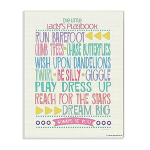 Toby Little Lady's Playbook Wall Plaque by Harriet Bee