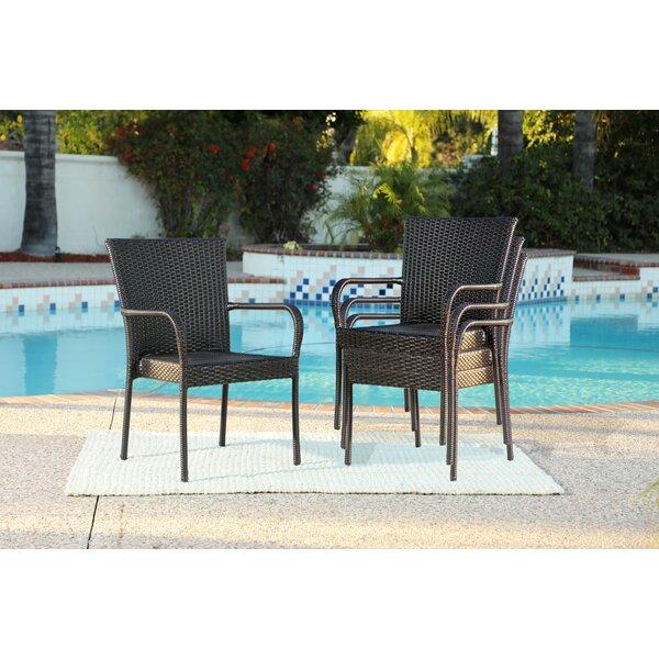 Gellert Patio Dining Chair (Set of 4) by Bayou Breeze
