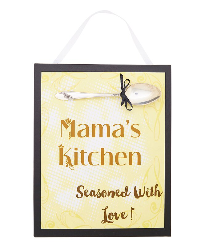 SilverBelles Mama\'s Kitchen Sign Wall Décor & Reviews | Wayfair