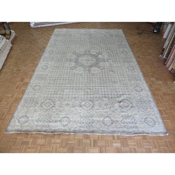 One-of-a-Kind Pagan Oushak Heriz Hand-Knotted Wool Gray Area Rug by Bloomsbury Market