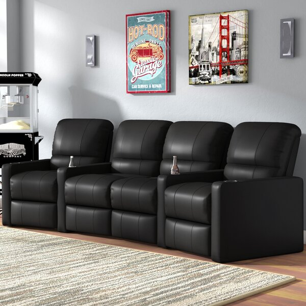 Center Home Theater Curved Row Seating (Row Of 4) By Latitude Run