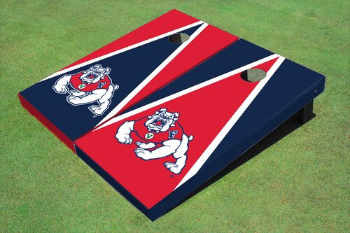 NCAA 10 Piece Triangle Cornhole Board Set by All American Tailgate