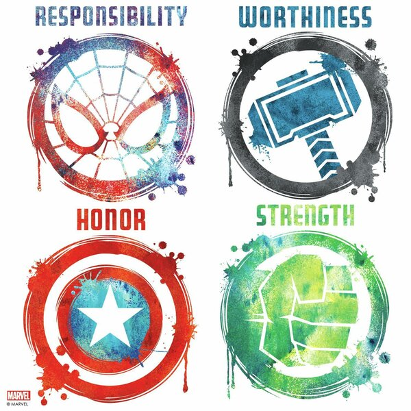Marvel Icons Peel and Stick Wall Decal by Room Mates